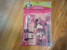 Brand New Disney Minnie Mouse 11 Piece Stationery Set