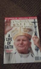 People magazine A life of faith Pope John Paul ll April 18, 2005 issue