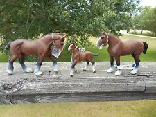 CLYDESDALE HORSE FAMILY by Safari Ltd/toy/horse/151205/151405/157805