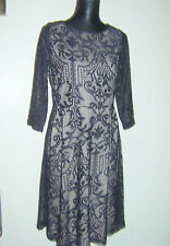 Black Lace Dress BHS Collection Tag £45 Party Xmas  Sz 16  Nude Lining