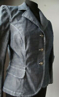 Blazer giacca di jeans blu giubbotto jacket tasche 44 giacchetta denim elegante