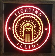 University of Illinois Fighting Illini 12 x 12 Man Cave Multi color LED Sign