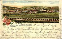 1902 Litho-AK Gruss aus WERNSHAUSEN Lithographie gelaufen Ziegenrück Thüringen