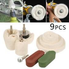 9X Kit di tamponi per lucidatura alluminio acciaio ottone plastica per trapano