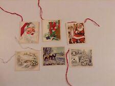 Vintage Christmas Gift Tag Lot of 6 Christmas Holiday Cards