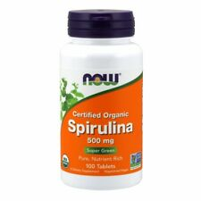Spirulina 100 Tabs 500 mg by Now Foods