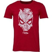 Magliette da uomo rossi Marvel con girocollo