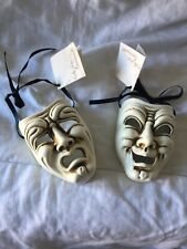 Rare Venetian Masquerade Comedy Tragedy Collezioni Renaissance Masks Wall Decor