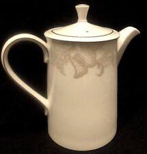 HTF Rare Ralph Lauren Satin Paisley Platinum Tea/Coffee Pot Pitcher With Lid EUC