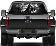 Death  Trees Grim Reaper Version 2 B/W Rear Window Graphic Decal Truck SUV