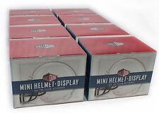 1 Case of 8 - BALLQUBE MINI HELMET HOLDER DISPLAY CASE & PROTECTION