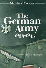 The German Army, 1933-1945 Matthew Cooper--Free Shipping