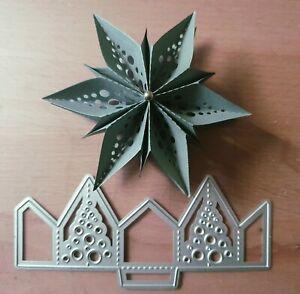 Stanzschablone 3d- Stern  Weihnachten Dekostern