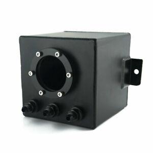 2L Aluminum Car Fuel Surge Tank w/ AN6 Fitting For 044 External Fuel Pump Black