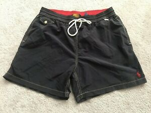 Polo Ralph Lauren embroidered Logo Swim Trunks Shorts Mens Sz XL Charcoal Red