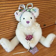 Annette Funicello Limited Edition Collectible Bear Lavender Bouquet Excellent!
