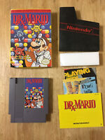 Nintendo Dr. Mario Complete w/ Box Manual Sleeve inserts NES VIDEO GAME RETRO
