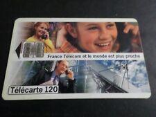TELECARTE 120 FRANCE LE MONDE EST PLUS PROCHE, USAGEE, PHONE CARD