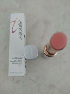 Jane Iredale Just Kissed Lip & Cheek Stain Forever Pink 0.1oz/3g Authentic
