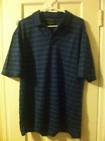 PRONTO UOMO SPORT - Polo Golf Shirt - Short Sleeve - MSRP $69.99 - Mens L Blue