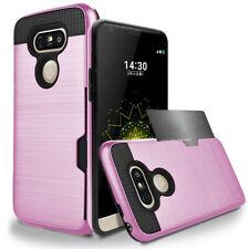 Hybrid Rubber Shockproof Card Wallet Hard Phone Case Cover For LG G6 V20 V30
