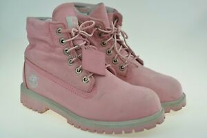 Timberland Roll Top Boots 22919M Pink Leather Women's Boots Size UK 5