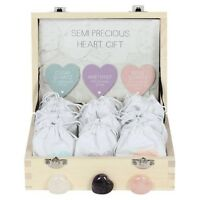 STUNNING QUARTZ HEART WITH KEEPSAKE POUCH. 1 PIECE