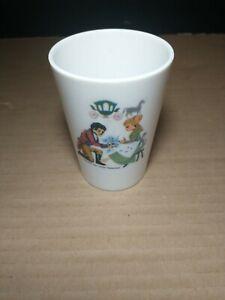Vintage 1960s CINDERELLA Melamine kids Cup Walt Disney Production collectible