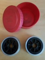 2 Vintage ABU 506 Closed Face Spinning Reel Spare Spools In Original Holder