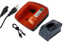 Fast Charger for BOSCH AHS A Accu,ASG 52,ATS 12-P,B2300,B2310,B2500 BABS 12V Red