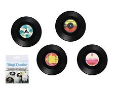 Set di 4 Vinile Record Stile Retrò Design Sottobicchieri Sottobicchiere/Bevanda Stuoie - 11 cm di diametro
