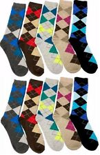 10 Pairs Mens Argyle Dress Socks NEW Fashion Casual Colors #BURUKA Size: 10-13