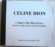 """CÉLINE DION - CD SINGLE PROMO """"TEST-PRESSING"""" """"THAT'S THE WAY IT IS"""""""