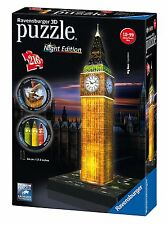 NEW! Ravensburger 3D Puzzle Big Ben Night Edition 216 piece jigsaw puzzle 12588