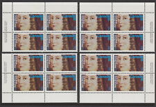 CANADA #615 8¢ Jeanne Mance Match Set Plate Blocks MNH