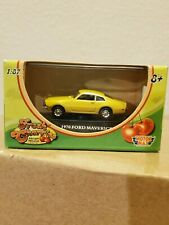 1970 Ford Maverick Fresh Cherries die-cast 1:87 scale toy car Motor Max Yellow