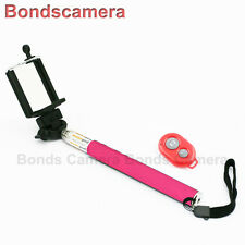Selfie Bluetooth Remote Extendable Handheld Monopod for iOS Android phone Pink
