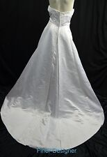 David's Bridal Gloria Vanderbilt Wedding Gown Train Strapless Sz 16 XL White NEW