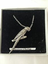 """Parrot pp-b08 EMBLEMA in argento placcato in platino collana 18 """""""