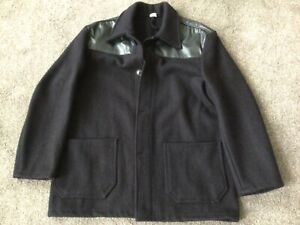 VINTAGE DONKEY JACKET LARGE SIZE WITH PVC SHOULDERS GOOD CONDITION