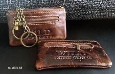 Schlüsseltasche Schlüsseletui Schlüsselmappe Rindleder Minibörse