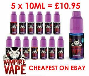 Vampire Vape E liquid Juice Hisenburg Pinkman Bloodsukka 5 x 10ml for £10.95