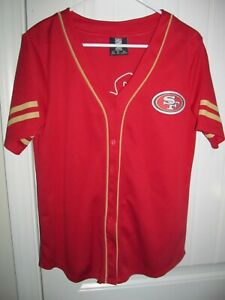 San Francisco 49ers Baseball jersey- Adult Small