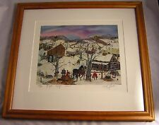 """Will Moses """"MAPLE SYRUP SEASON"""" Signed Lithograph 393/500--17.25"""" x 15.75"""""""