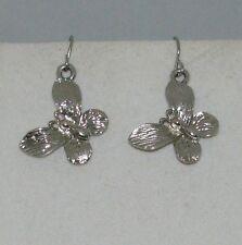 Handmade Silvertone Charm Earrings 23mm BUTTERFLY  Made in USA