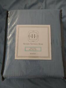 Modern Southern Home™ BLUE soft Microfiber FLAT Sheet ONLY king size Belk $50