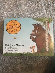 NEW Julia Donaldson Gruffalo Memory Board Game BNIB Early Learning Maths Numbers