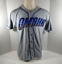 2019 Omaha Storm Chasers Blank Game Issued Grey Jersey L OSC0026