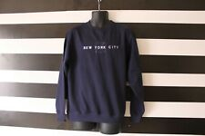 Matrix New York Men's Sweatshirt Cotton Blend NYC Front Navy Size M