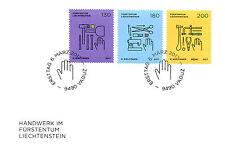 Liechtenstein 2017 FDC Trades Crafts SEPAC Stonemason Goldsmith 3v Cover Stamps